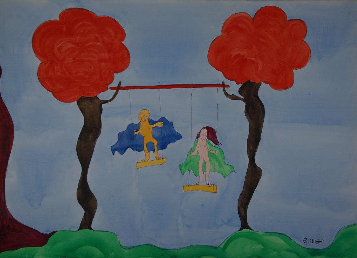 Картина Е.Е. Березикова Адам и Ева в Раю